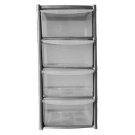 See more information about the 19L Premier 4 Drawer Plastic Storage Tower Clear & Grey