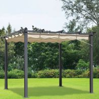 See more information about the Croft 3m x 3m Pergola Replacement Cover Beige
