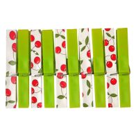 Your Home Colourful Clothes Pegs (Pack of 20) - Green Cherries