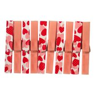 Your Home Colourful Clothes Pegs (Pack of 20) - Pink Hearts