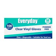 See more information about the Everyday Disposable Clear Vinyl Gloves - Medium 100 per pack