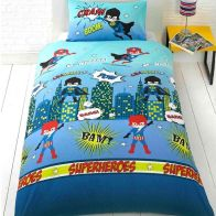 See more information about the Childs Single Duvet Set - Super Heroes