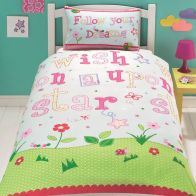 See more information about the Dream and Snooze Single Duvet Cover Girls Wish Upon A Star