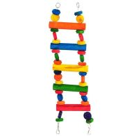 See more information about the Happy Pet Playtime Pet Bird Toy Multiwood Ladder