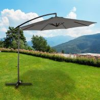 See more information about the 3m Charcoal Overhang Parasol