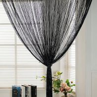See more information about the Black & Silver String Door Curtain 90 x 200cm