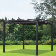 See more information about the 3m x 3m Pergola Replacement Cover Charcoal