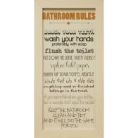 See more information about the Bathroom Rules Typography Prints