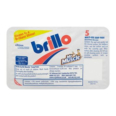 Visualizza offerta: Mr Muscle Brillo Pads Multi Use Soap Pads 5 Pack
