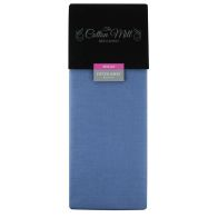 Cotton Mill Blue Single Poly Cotton Fitted Sheet