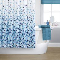 See more information about the Blue Mosaic Shower Cutain