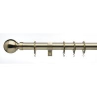 See more information about the Universal Curtain Pole With Brass Ball Finials 25/28mm 120-200cm