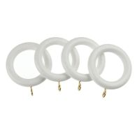 Universal 28mm White Curtain Rings 4 Pack