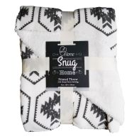 See more information about the Your Home 120 x 150cm Sherpa Aztec White & Grey Throw