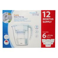 See more information about the Aqua Optima Galia White Water Filter Jug 1 Year Pack