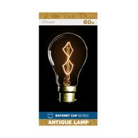 See more information about the Crystalite Bayonet Cap Antique Lamp Bulb 60w - Z Shape Filament