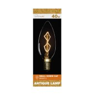 See more information about the Crystalite 40w Small Screw Cap Antique Lamp Bulb (Z Shape Filament)
