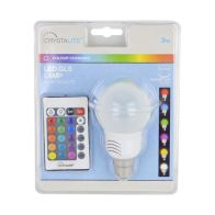 See more information about the Crystalite 3w Colour Changing LED GLS Lightbulb with Remote (BC/B22)