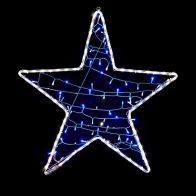 White Rope Light Star With A String Of 80 LED Blue Lights