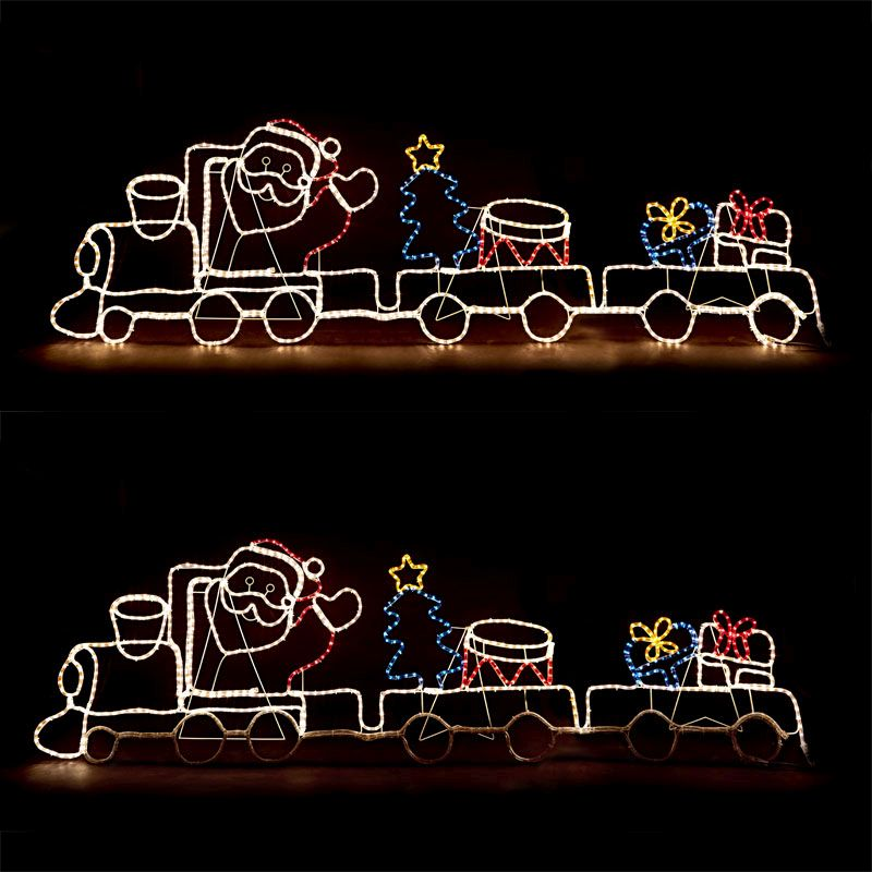 santa train christmas rope lights zoom image