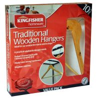 See more information about the Kingfisher Wooden Clothes Coat Hangers (10 Pack)