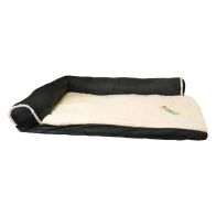 See more information about the Faux Suede Fur Corner Pet Bed 34x22x8 Black