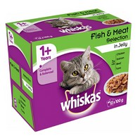 See more information about the Whiskas 1+ Cat Food Pouches 12 Pack