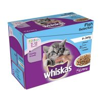 See more information about the Whiskas Wet Kitten Food Fish Selection 12 Pouches