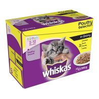See more information about the Whiskas Wet Kitten Food Poultry Selection 12 Pouches