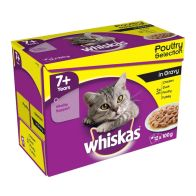 See more information about the Whiskas Wet Mature Cat Food Poultry Selection 12 Pouches