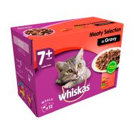 See more information about the Whiskas Wet Mature Cat Food Meaty Selection 12 Pouches