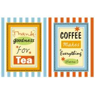 See more information about the Stripe Tea and Coffee Cotton Tea Towels 2 Pack