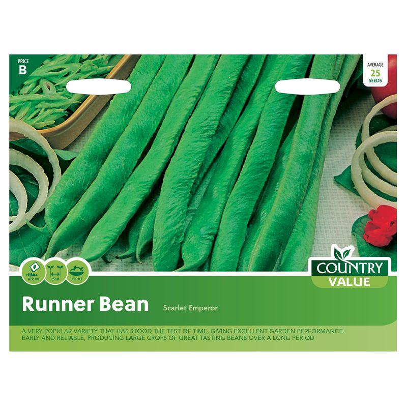 buy country value runner bean scarlet emperor seeds