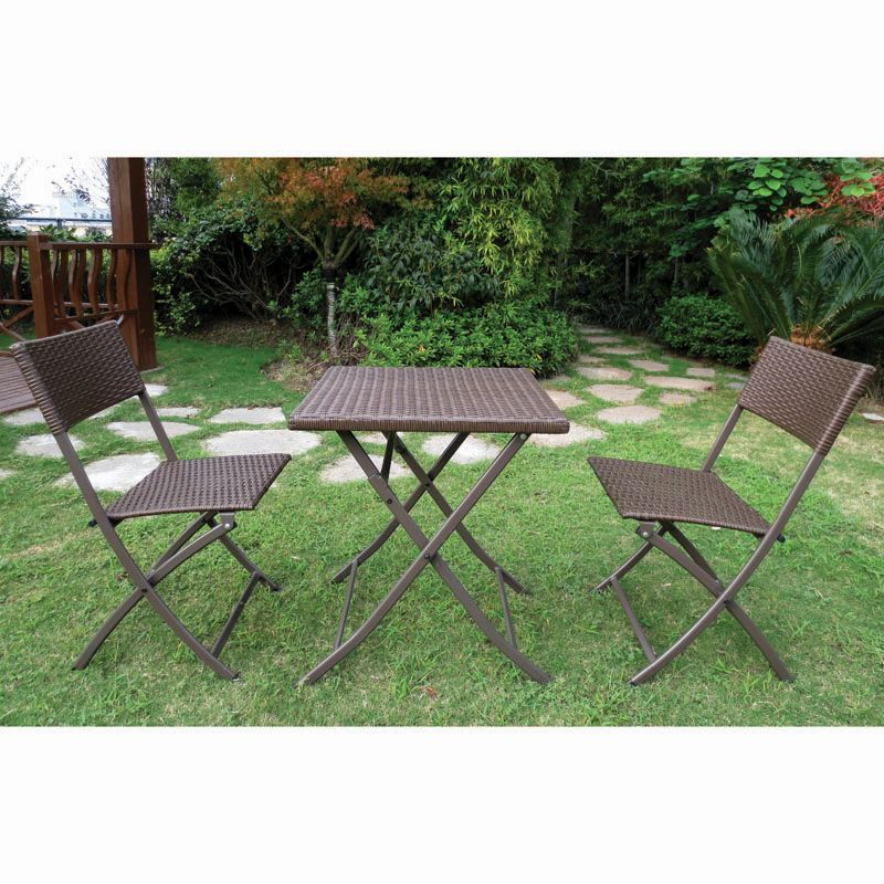 Buy Danbury 3 Piece Folding Rattan Set Garden Furniture Online At Cherry Lane