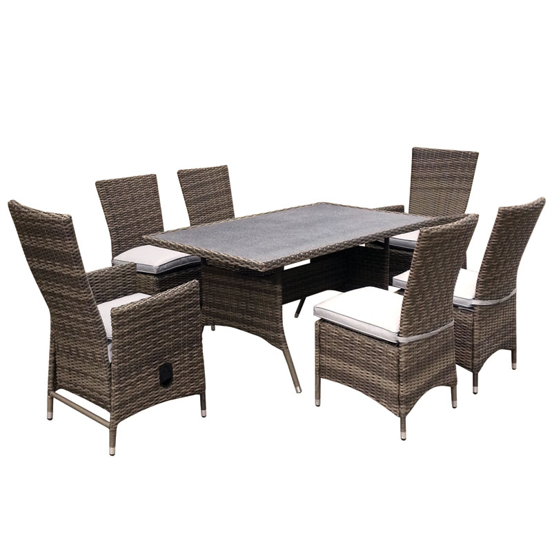 Buy Elsham 7 Piece Reclining Dining Set Garden Furniture Online At Cherry Lane