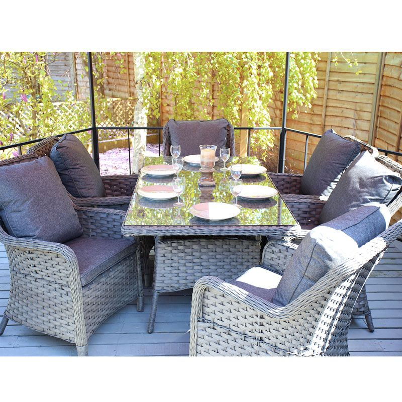 Buy Felbrigg 7 Piece Rattan Dining Set Garden Furniture Online At Cherry Lane