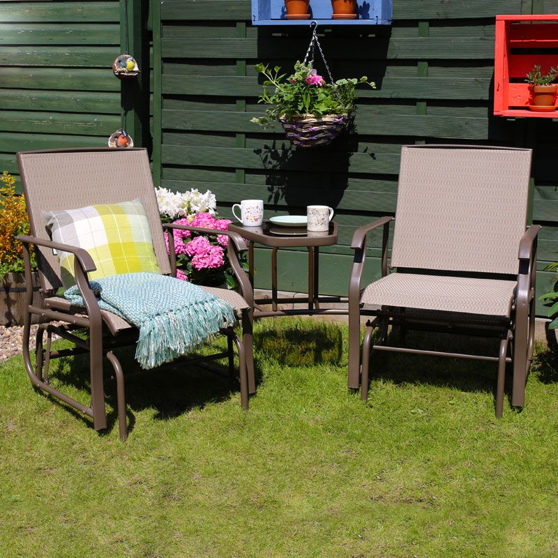 Buy croft dalston rocking tete a tete companion love seat for Garden love seat uk