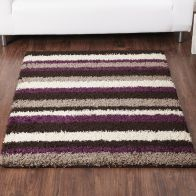 See more information about the Rug Sienna Stripe Chocolate & Aubergine (80 x 150 cm)