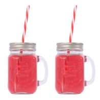 See more information about the 2 Pack of Mason Jars with Lids