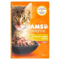 See more information about the Iams Turkey and Duck Cat Food in Jelly (85g)