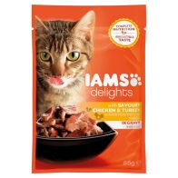 See more information about the Iams Chicken and Turkey Cat Food in Gravy (85g)