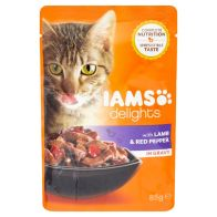 See more information about the Iams Lamb and Red Pepper in Gravy Cat Food (85g)