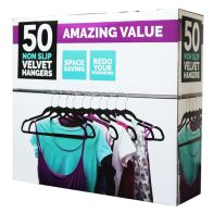 See more information about the 50 Pack Non Slip Velvet Coat Hangers
