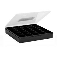 See more information about the Wham Handy Organiser 29cm Square 25 Divisions Graphite-Clear