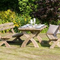 See more information about the Harriet Garden Table with 2 Benches