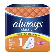 See more information about the Always Classic Normal Sanitary Towels 10 Pack