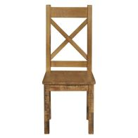See more information about the Dovetale Cross Back Dining Chair Oak