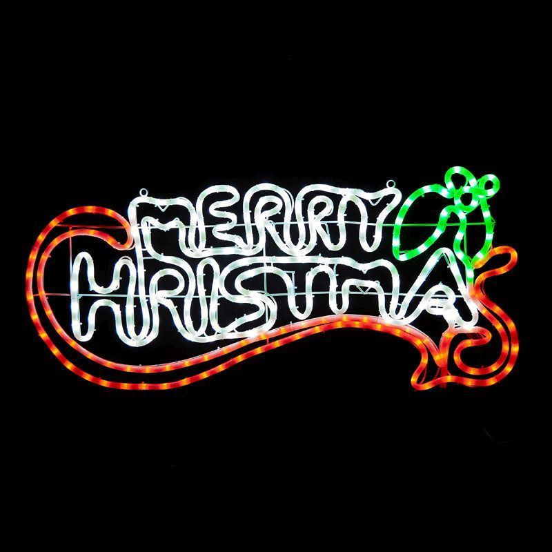 led merry christmas rope light zoom image