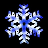 See more information about the 36 LED Blue & White Outdoor Animated Snowflake Star Light 40cm