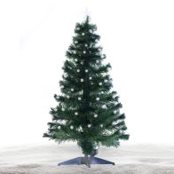 See more information about the 120cm (3 Foot 11 Inch) Green Spikey Ball Fibre Optic Christmas Tree